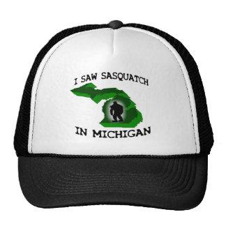 Ich sah Sasquatch in Michigan Caps