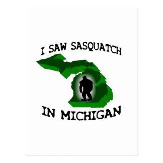 Ich sah Sasquatch in Michigan Postkarte