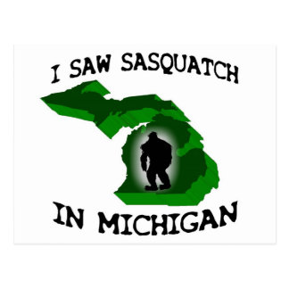 Ich sah Sasquatch in Michigan Postkarten
