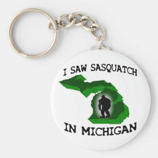 Ich sah Sasquatch in Michigan Standard Runder Schlüsselanhänger
