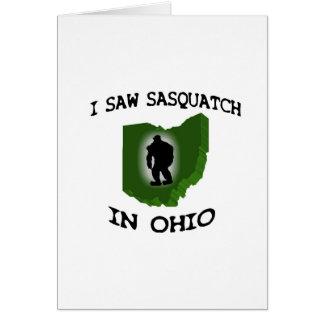 Ich sah Sasquatch in Ohio Grußkarte