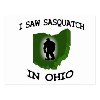 Ich sah Sasquatch in Ohio Postkarte