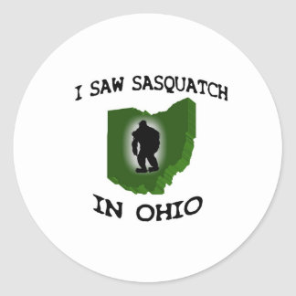 Ich sah Sasquatch in Ohio Runder Aufkleber