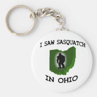 Ich sah Sasquatch in Ohio Standard Runder Schlüsselanhänger