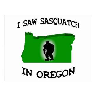 Ich sah Sasquatch in Oregon Postkarten