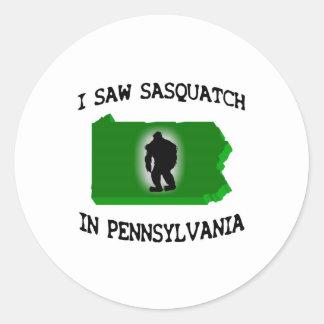 Ich sah Sasquatch in Pennsylvania Runde Aufkleber