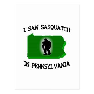 Ich sah Sasquatch in Pennsylvania Postkarte
