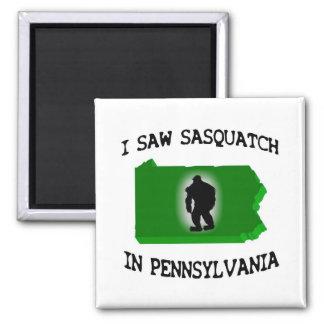 Ich sah Sasquatch in Pennsylvania Quadratischer Magnet