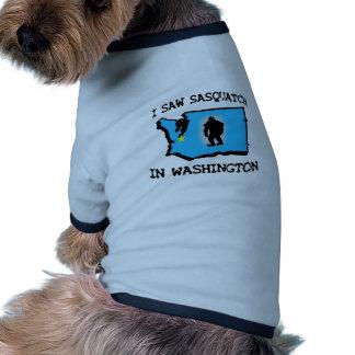 Ich sah Sasquatch in Washington Hunde Shirts