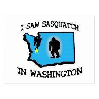Ich sah Sasquatch in Washington Postkarten