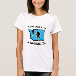 Ich sah Sasquatch in Washington T-Shirt