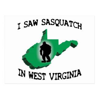 Ich sah Sasquatch in West Virginia Postkarten
