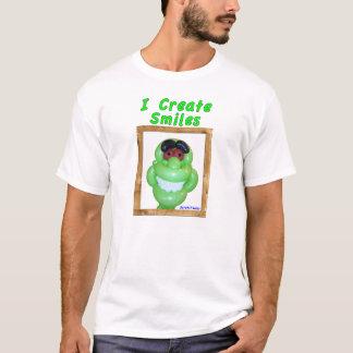 Ich schaffe Lächeln-lächelnde grüne T-Shirt