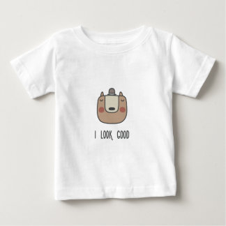 Ich schaue gut baby t-shirt