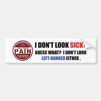 Ich schaue nicht krank: Linkshändiger Autoaufkleber