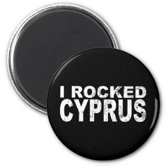 Ich schaukelte Zypern Runder Magnet 5,1 Cm