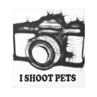 Ich schieße Haustiere Notizblock