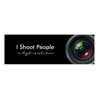 Ich schieße Leute - beruflichen Fotografen Jumbo-Visitenkarten