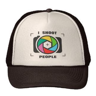 Ich schieße Leute - bunten Kameraverschluss-Spaß Retromütze