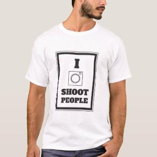 Ich schieße Leute-Fotografie-T-Shirt T-Shirt