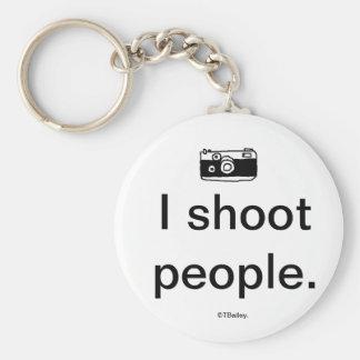 Ich schieße Leute Keychain Standard Runder Schlüsselanhänger