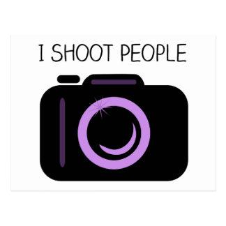 Ich schieße Leute-lustiges Fotograf-Sprichwort Postkarte