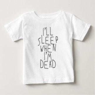 Ich schlafe, wenn ich tot bin baby t-shirt
