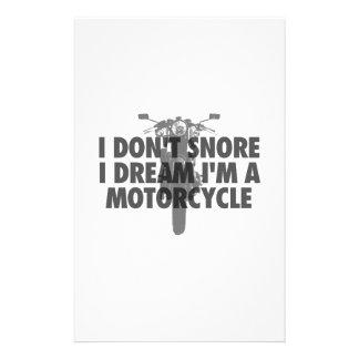 Ich schnarche nicht i-Traum, den ich ein Motorrad Briefpapier