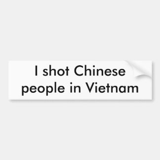 Ich schoss chinesisches Volk in Vietnam Autoaufkleber