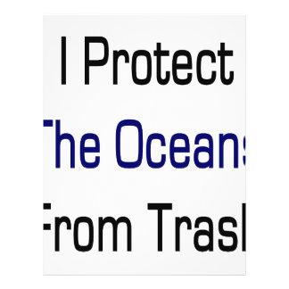 Ich schütze die Ozeane vor Abfall Vollfarbige Flyer