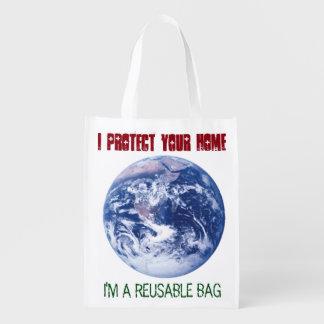 Ich schütze Ihr Zuhause - ich bin eine Wiederverwendbare Einkaufstaschen