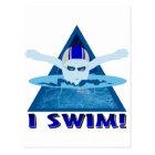 Ich schwimme postkarte