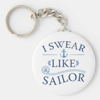 Ich schwöre wie ein Seemann Schlüsselanhänger