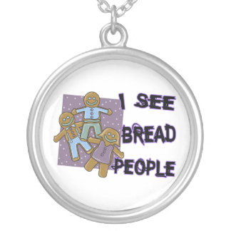 Ich sehe Brot-Leute Versilberte Kette