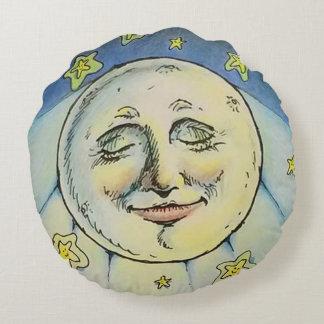 Ich sehe das Mond-Kissen Rundes Kissen