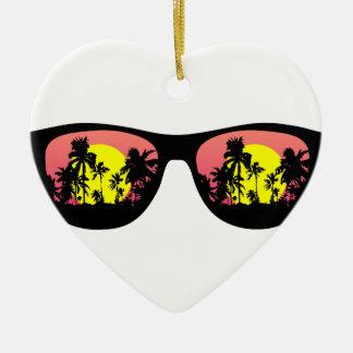 Ich sehe die Tropen Keramik Herz-Ornament
