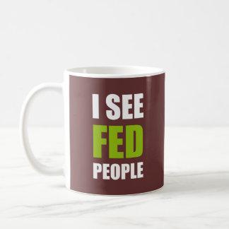Ich sehe gefütterte Leute Tasse