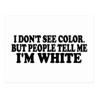 Ich sehe nicht Farbe Postkarte