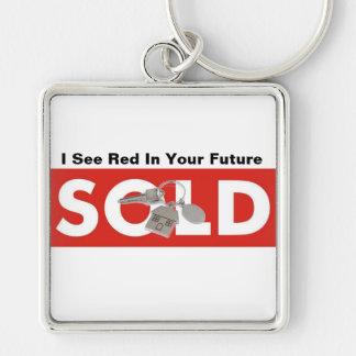 Ich sehe Rot in Ihrem zukünftiges wirkliches Schlüsselanhänger