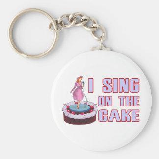 Ich singe auf dem Kuchen Schlüsselanhänger