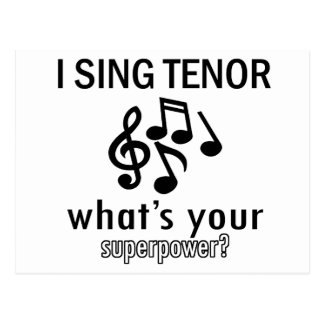 Ich singe Tenor Postkarte
