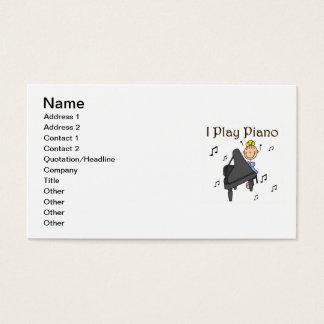 Ich spiele Klavier-T - Shirts und Geschenke Visitenkarte