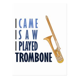 Ich spielte Trombone Postkarte