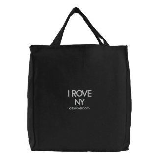 ICH SPINNE NY gestickte Taschen-Tasche vor Bestickte Tragetasche