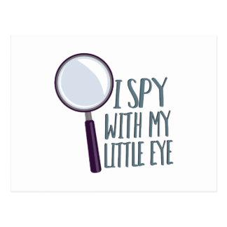 Ich spioniere aus postkarte