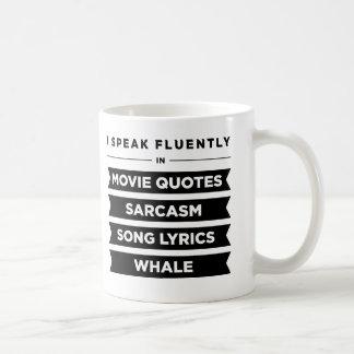 Ich spreche fließend herein tasse