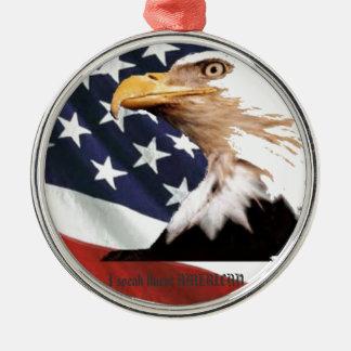 Ich spreche fließenden AMERIKANER Silbernes Ornament