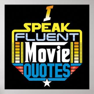 Ich spreche fließendes Film-Zitat-Plakat Poster
