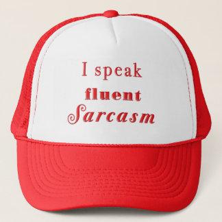 Ich spreche fließendes Sarkasmus-Hut-Rot Truckerkappe