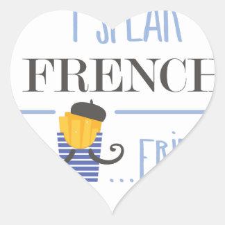 Ich spreche französisch… Fischrogen Herz-Aufkleber